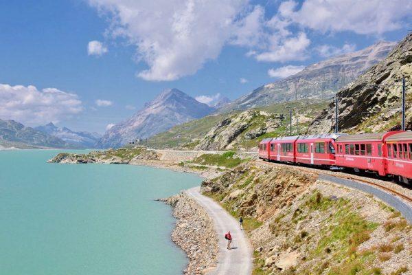 Il treno rosso del Bernina